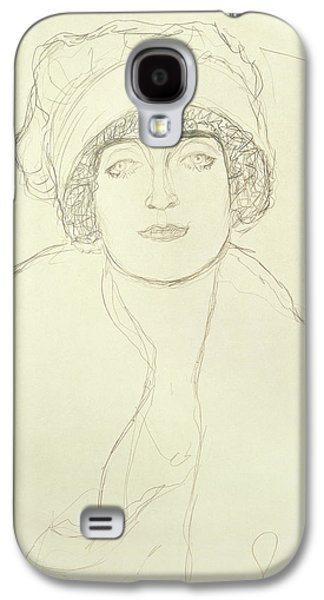 Drawing Galaxy S4 Cases - Portrait Of A Young Woman Galaxy S4 Case by Gustav Klimt