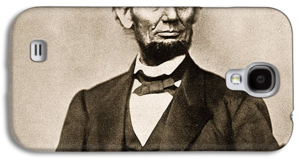 Historical Figures Galaxy S4 Cases - Portrait of Abraham Lincoln Galaxy S4 Case by Mathew Brady