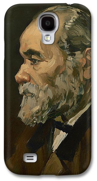 Gray Hair Galaxy S4 Cases - Portrait of an Old Man Galaxy S4 Case by Vincent van Gogh