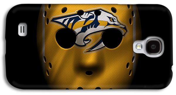 Recently Sold -  - Sports Photographs Galaxy S4 Cases - Predators Jersey Mask Galaxy S4 Case by Joe Hamilton