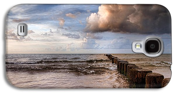 Waterscape Pyrography Galaxy S4 Cases - Prerow Beach Galaxy S4 Case by Steffen Gierok