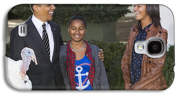 Barack Obama Galaxy S4 Cases - President Obama and Daughters Galaxy S4 Case by JP Tripp