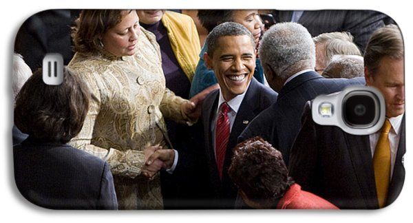 Barack Obama Galaxy S4 Cases - President Obama Galaxy S4 Case by JP Tripp