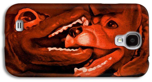 Playful Digital Galaxy S4 Cases - Puppet Fight Galaxy S4 Case by Jeff  Gettis