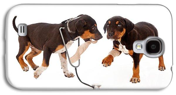 Studio Photographs Galaxy S4 Cases - Puppy Veterinarian and Patient Galaxy S4 Case by Susan  Schmitz