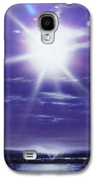 Sunset Prints Galaxy S4 Cases - Purple Aura Galaxy S4 Case by Christian Chapman Art