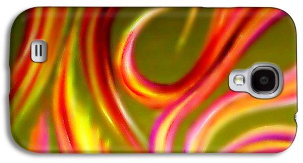 Dance Floor Paintings Galaxy S4 Cases - Pyromania Galaxy S4 Case by Cyryn Fyrcyd