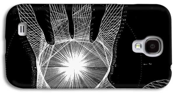 Drawing Galaxy S4 Cases - Quantum Hand through my eyes Galaxy S4 Case by Jason Padgett