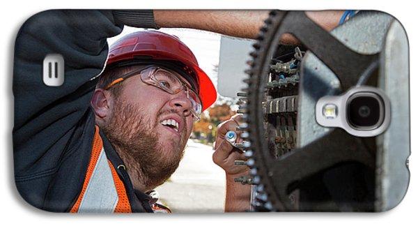 Railway Signal Maintenance Galaxy S4 Case by Jim West
