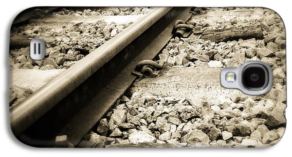 Steel Photographs Galaxy S4 Cases - Railway tracks Galaxy S4 Case by Les Cunliffe