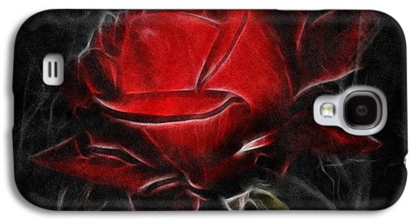 Mother Gift Galaxy S4 Cases - Red Hot Galaxy S4 Case by Georgiana Romanovna