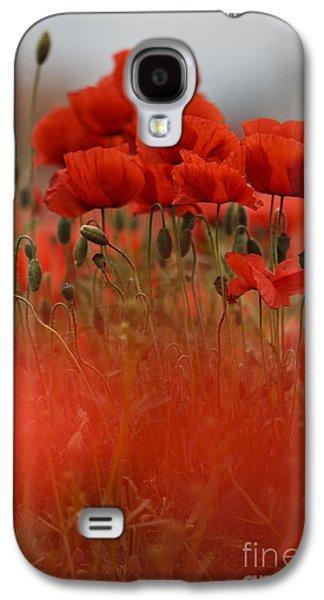 Botanical Galaxy S4 Cases - Red Galaxy S4 Case by Nailia Schwarz