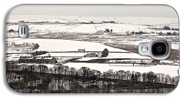 Harsh Conditions Galaxy S4 Cases - Remote farmland on the snow covered Yorkshire moors Galaxy S4 Case by Ken Biggs