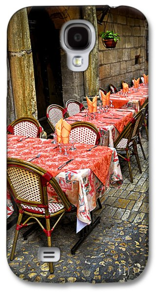 Chair Galaxy S4 Cases - Restaurant patio in France Galaxy S4 Case by Elena Elisseeva