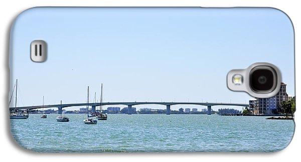 Aqua Condominiums Galaxy S4 Cases - Ringling Bridge Afternoon Sarasota Florida Galaxy S4 Case by Sally Rockefeller