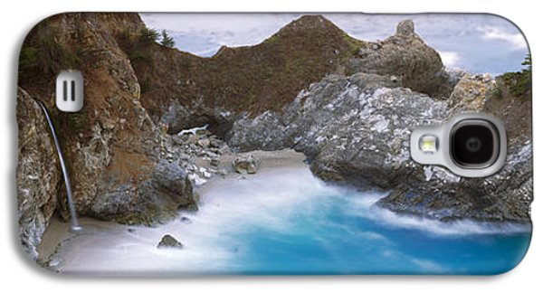 Big Sur Beach Galaxy S4 Cases - Rocks On The Beach, Mcway Falls, Julia Galaxy S4 Case by Panoramic Images