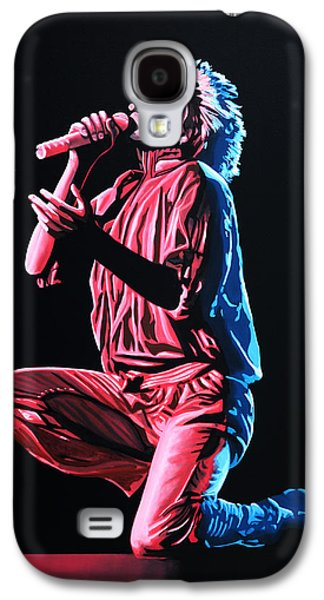 Cold Paintings Galaxy S4 Cases - Rod Stewart Galaxy S4 Case by Paul  Meijering