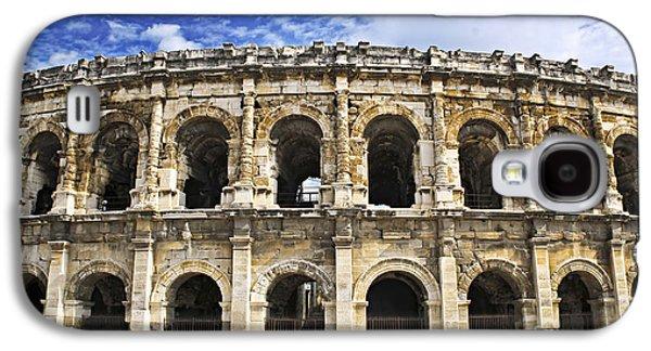 Landmarks Photographs Galaxy S4 Cases - Roman arena in Nimes France Galaxy S4 Case by Elena Elisseeva