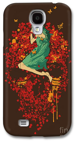 Floral Digital Art Galaxy S4 Cases - Roses are red but why you look so blue Galaxy S4 Case by Budi Satria Kwan
