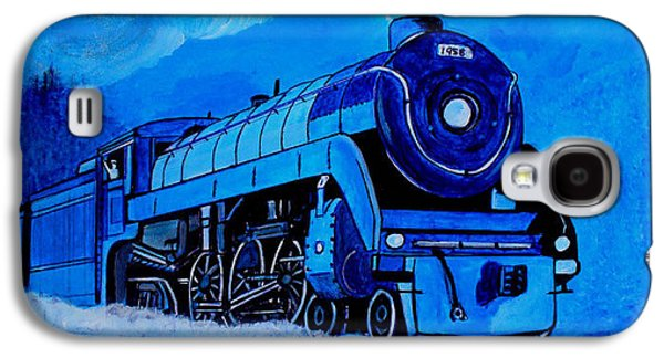 Royal Blue Express Galaxy S4 Case by Pjohn Artman