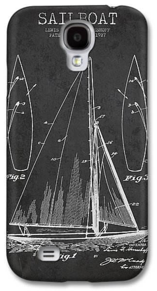 Sailboat Art Galaxy S4 Cases - Sailboat Patent Drawing From 1927 Galaxy S4 Case by Aged Pixel