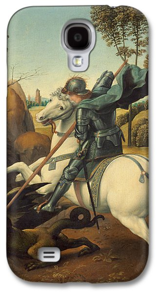 Knights Castle Paintings Galaxy S4 Cases - Saint George and the Dragon Galaxy S4 Case by Raphael