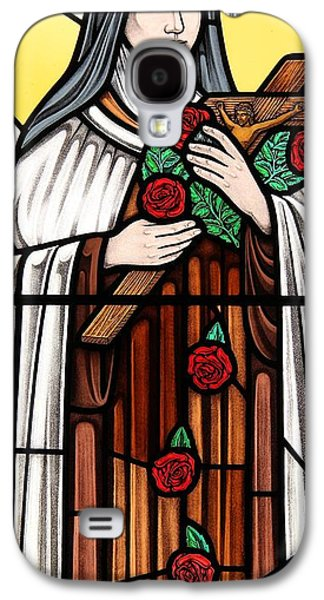 Religious Glass Art Galaxy S4 Cases - Saint Therese of Lisieux Galaxy S4 Case by Gilroy Stained Glass