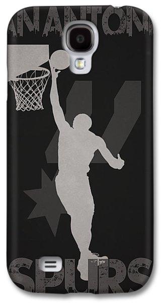 Nba Championship Galaxy S4 Cases - San Antonio Spurs Galaxy S4 Case by Joe Hamilton