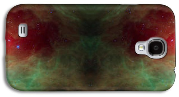 Creepy Digital Art Galaxy S4 Cases - Scary Red Alien Eyes Abstract Space Art Galaxy S4 Case by Animated Sentiments