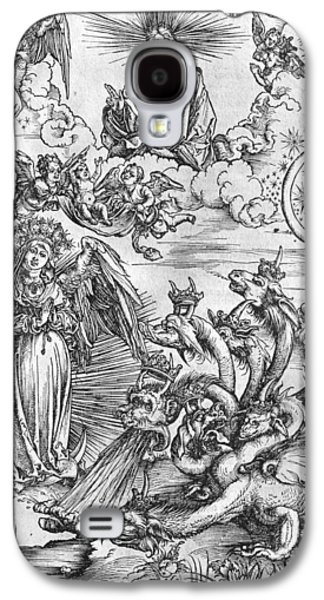 Sun Drawings Galaxy S4 Cases - Scene from the Apocalypse Galaxy S4 Case by Albrecht Durer or Duerer