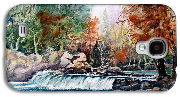 Maple Season Paintings Galaxy S4 Cases - Scenic Falls Galaxy S4 Case by Mohamed Hirji
