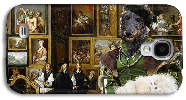 Scottish Dog Galaxy S4 Cases - Scottish Deerhound Art Canvas Print Galaxy S4 Case by Sandra Sij