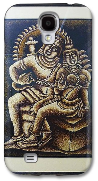 Modern Abstract Tapestries - Textiles Galaxy S4 Cases - Shiva And Parvathy Galaxy S4 Case by Sivaanan Balachandran