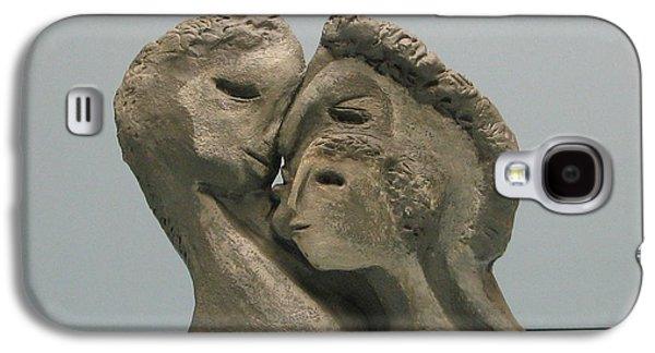 Original Sculptures Galaxy S4 Cases - 2 sided Family and empty nest Galaxy S4 Case by Nili Tochner
