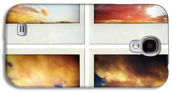 Sunset Abstract Galaxy S4 Cases - Skies Galaxy S4 Case by Les Cunliffe