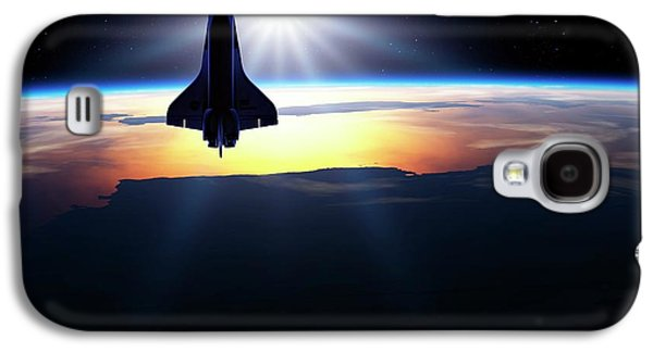 Space Shuttle In Orbit Galaxy S4 Case by Detlev Van Ravenswaay