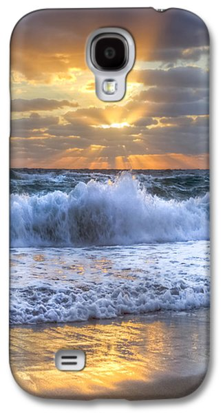 Park Scene Galaxy S4 Cases - Splash Sunrise Galaxy S4 Case by Debra and Dave Vanderlaan