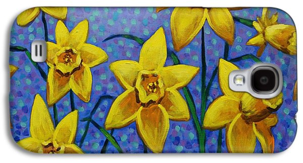 Landscape Acrylic Prints Galaxy S4 Cases - Spring Daffodils Galaxy S4 Case by John  Nolan