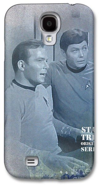 Enterprise Galaxy S4 Cases - Star Trek Kirk and McCoy Galaxy S4 Case by Pablo Franchi