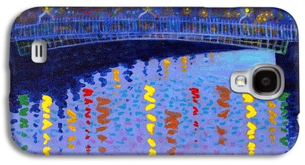 Impressionism Acrylic Prints Galaxy S4 Cases - Starry Night In Dublin Galaxy S4 Case by John  Nolan