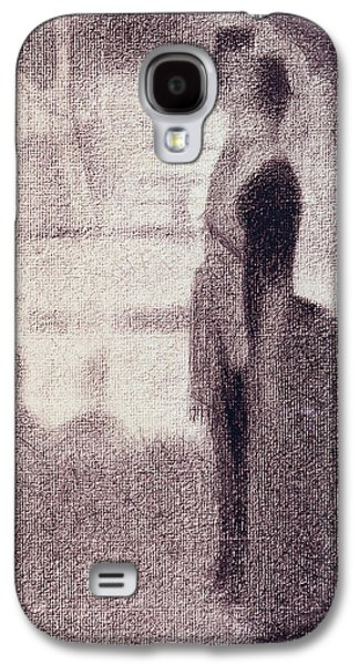 Impressionism Pastels Galaxy S4 Cases - Study for Sunday Afternoon on the Island of La Grande Jatte Galaxy S4 Case by Georges Pierre Seurat