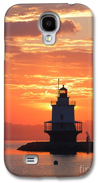 Maine Lighthouses Galaxy S4 Cases - Sunrise at Spring Point Lighthouse Galaxy S4 Case by Diane Diederich