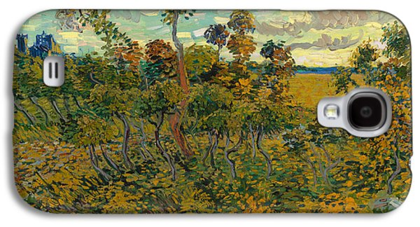 Sunset Posters Galaxy S4 Cases - Sunset at Montmajour Galaxy S4 Case by Vincent van Gogh