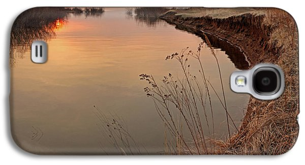 River Scenes Photographs Galaxy S4 Cases - Sunset  river panorama Galaxy S4 Case by Vitaliy Gladkiy
