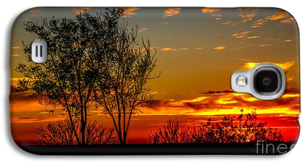 Haybale Galaxy S4 Cases - Sunset  Galaxy S4 Case by Robert Bales