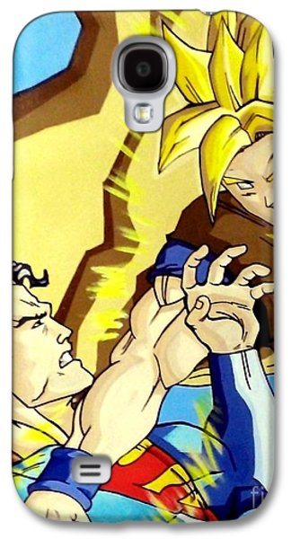 Lex Luthor Galaxy S4 Cases - Super Man Vs Goku Galaxy S4 Case by Jin Kai