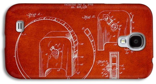 Rulers Galaxy S4 Cases - Tape measure Patent Drawing from 1906 Galaxy S4 Case by Aged Pixel