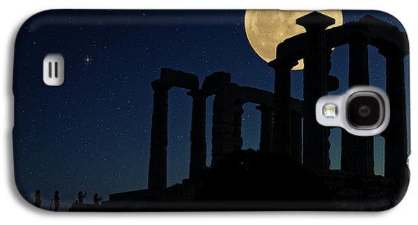 Sea Moon Full Moon Galaxy S4 Cases - Temple of Poseidon  Galaxy S4 Case by Emmanuel Panagiotakis