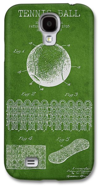 Tennis Galaxy S4 Cases - Tennnis Ball Patent Drawing from 1935 Galaxy S4 Case by Aged Pixel