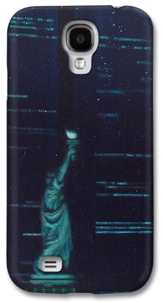 Democracy Paintings Galaxy S4 Cases - The Ascent Of Man Galaxy S4 Case by Sean Connolly